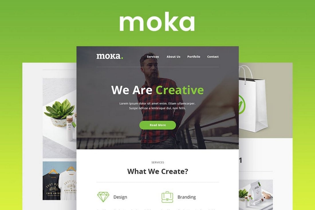 Moka-Responsive-Email-and-Newsletter-Template 20+ Best MailChimp Email Newsletter Templates (Free + Premium) 2021 design tips