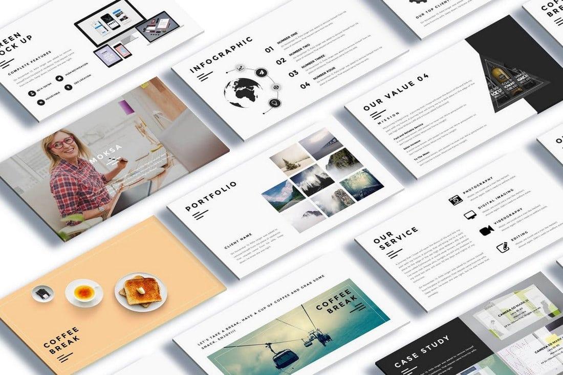 Moksa-Creative-Agency-Google-Slide-Presentation 30+ Best Google Slides Themes & Templates 2018 design tips