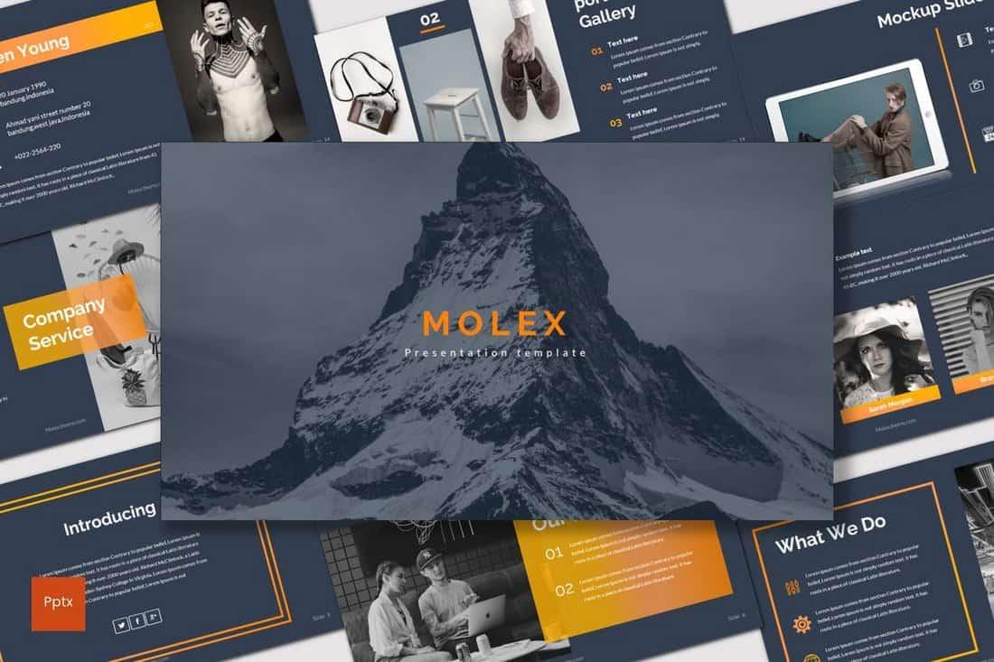 Molex - Dark Powerpoint Template
