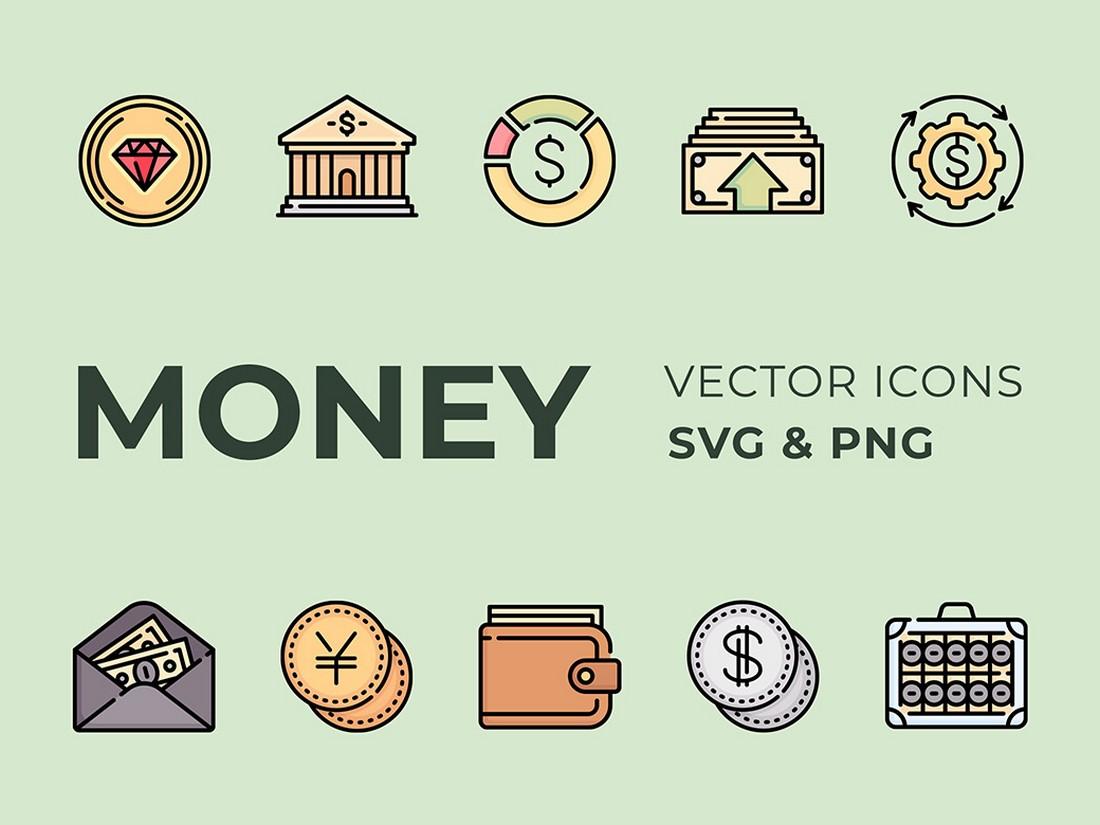 Money - Free Vintage Icon Pack
