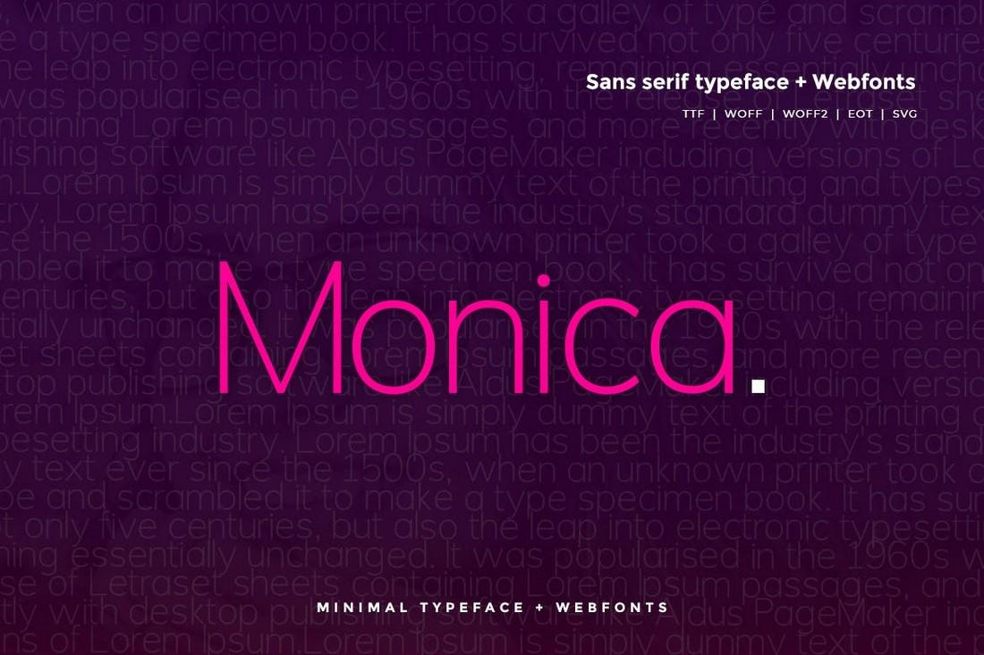 Monica - Modern Clean Font
