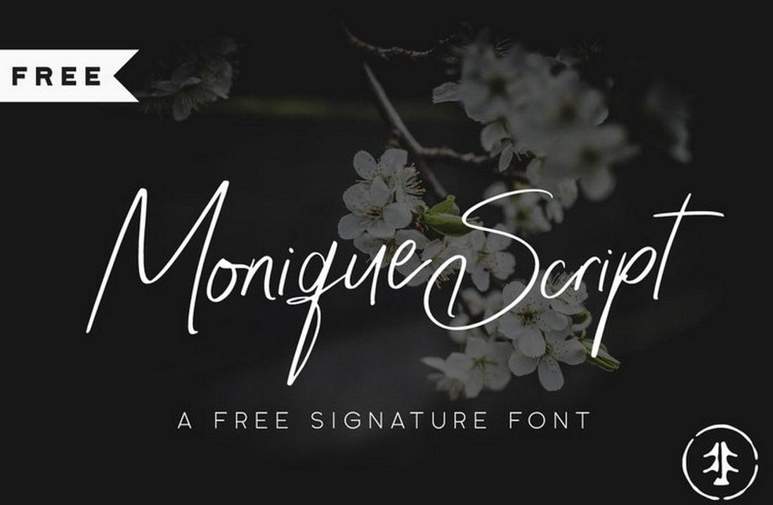 Monique Script - Free Signature Font