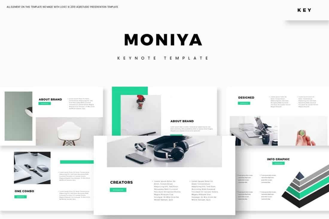 Moniya - Modèle Keynote élégant