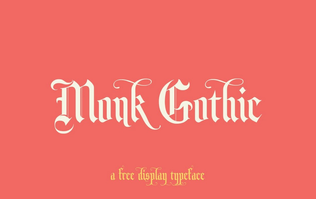 Monk-Gothic-Free-Gothic-Font 40+ Best Gothic Fonts design tips