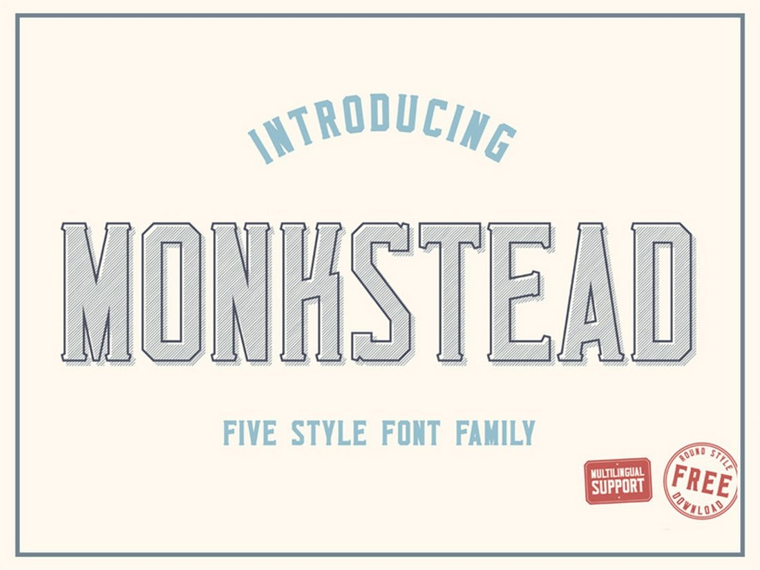 Monkstead-Font-Free 60+ Best Free Fonts for Designers 2019 (Serif, Script & Sans Serif) design tips