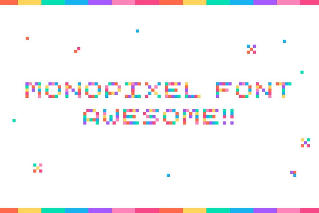 MonoPixel-Awesome-Retro-Color-Font 20+ Best Color Fonts of 2020 design tips
