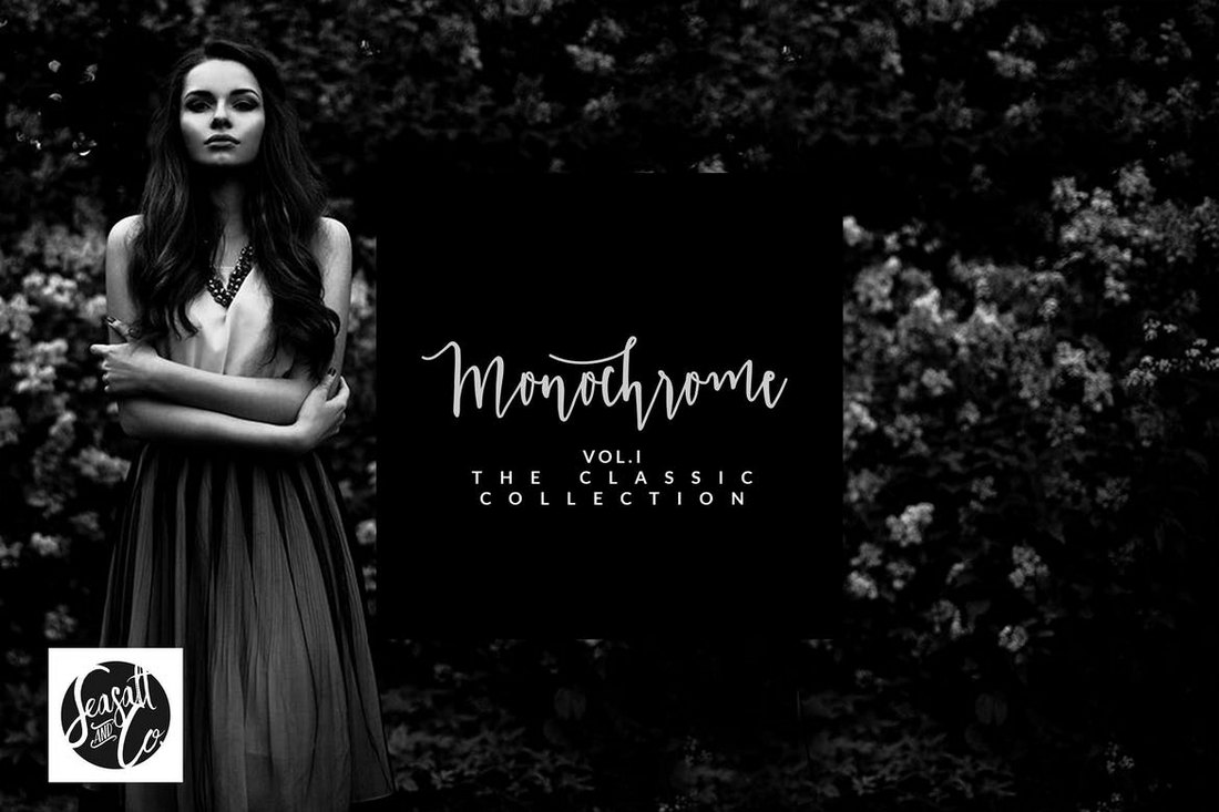 Monochrome-Classic-Photoshop-Actions 20+ Best Black and White Photoshop Actions design tips