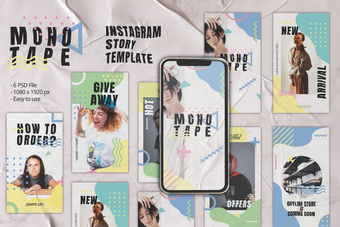 Monotape - Instagram Giveaway Story Template