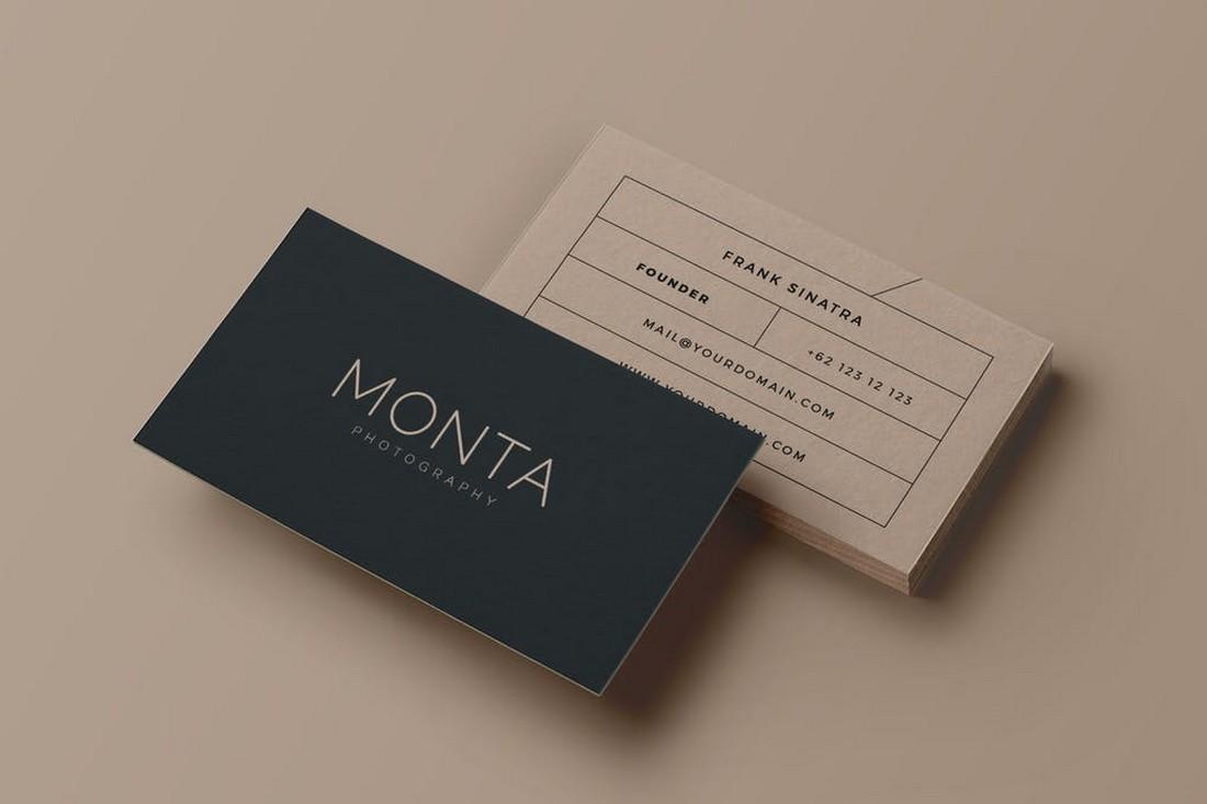 Monta - Elegant & Minimal Business Card Template