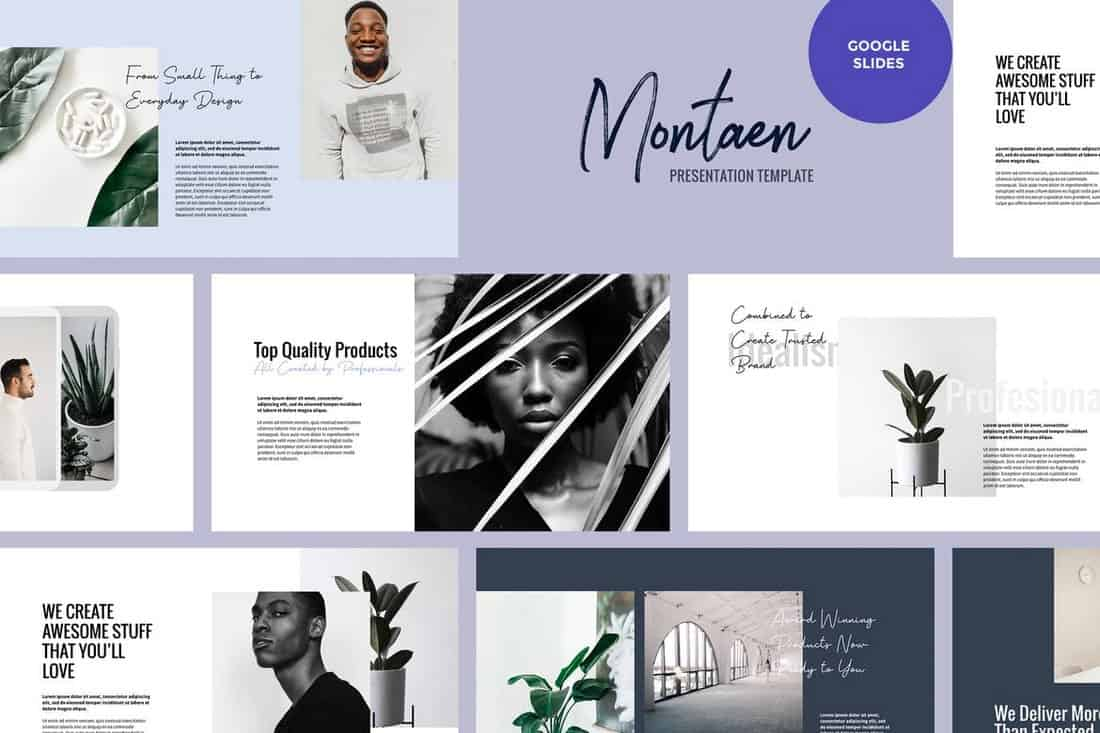 Montaen - Simple & Minimal Google Slides Template