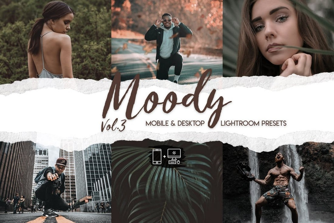 Moody Lightroom Presets para retratos