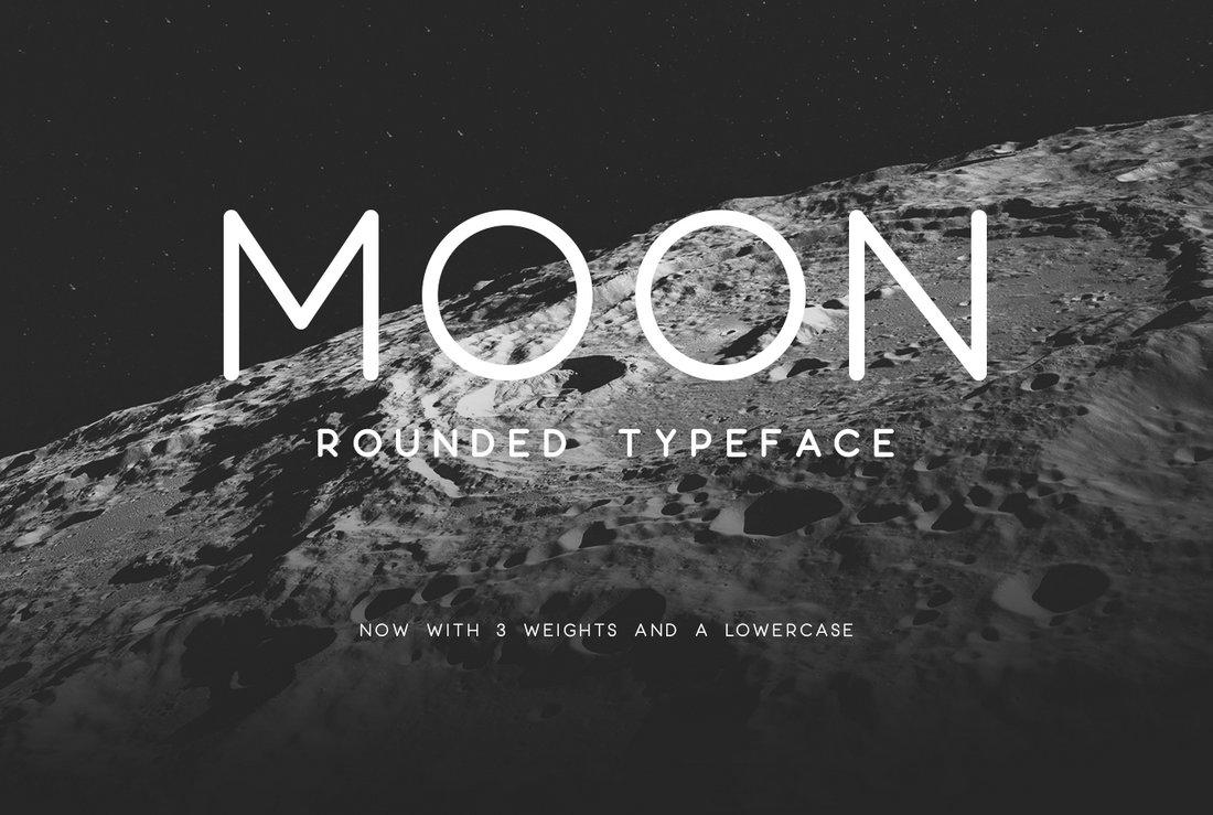Moon - Free Rounded Logo Typeface