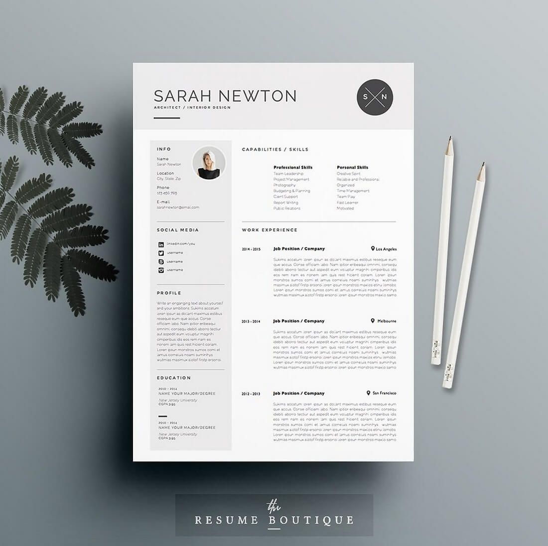 Moonlight 50+ Best CV & Resume Templates 2020 design tips