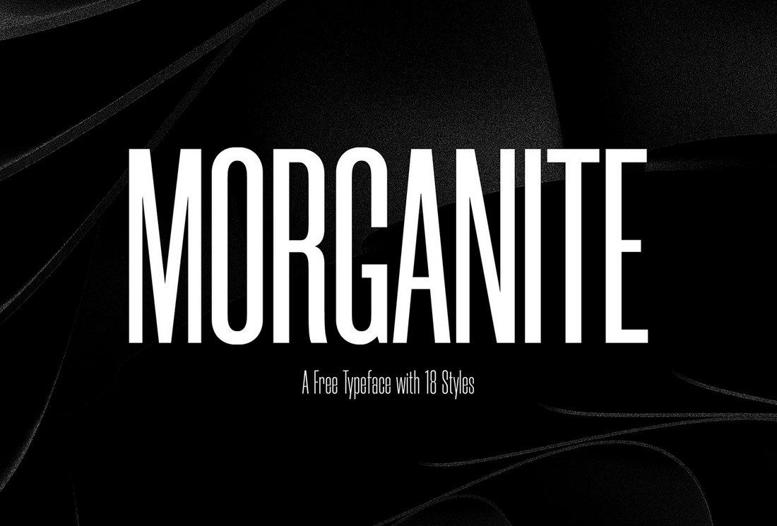 Morganite - Free Narrow Condensed Font