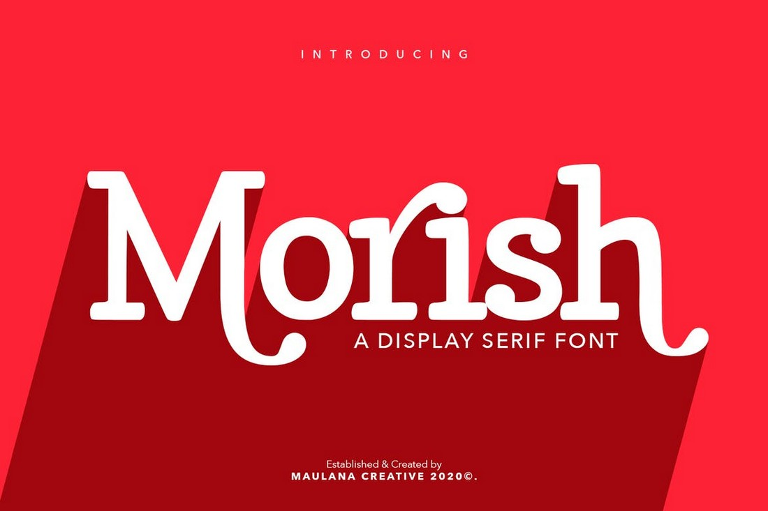 Morish-Handmade-Display-Font 30+ Best Fonts for Posters design tips