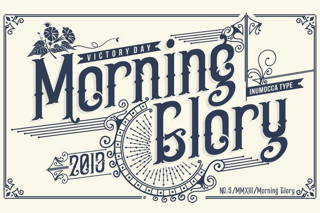 Morning-Glory-1 25+ Best Monogram Fonts design tips