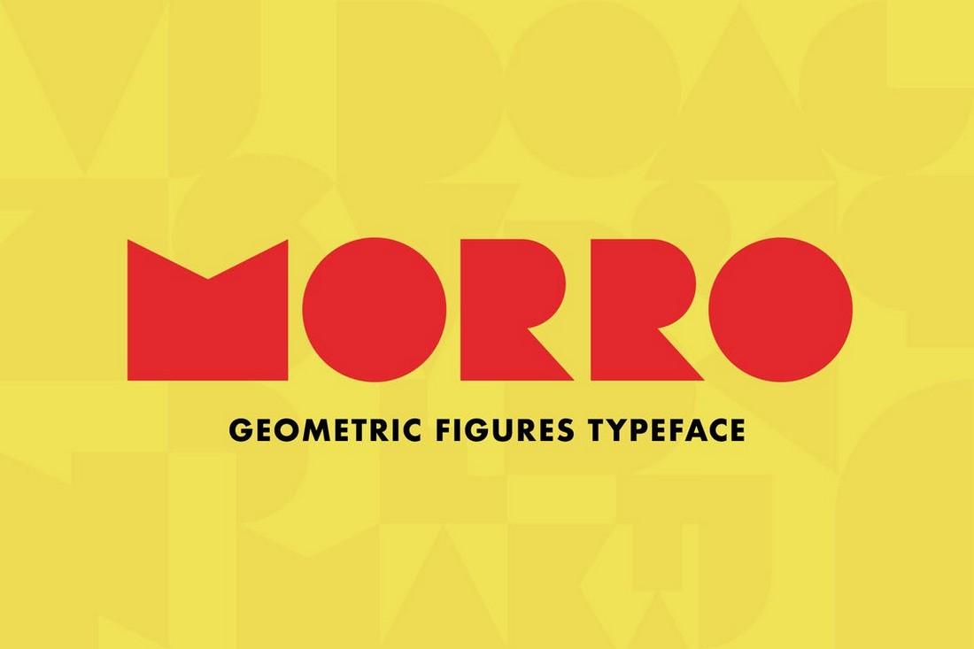 Morro - Creative Geometric Figures Font