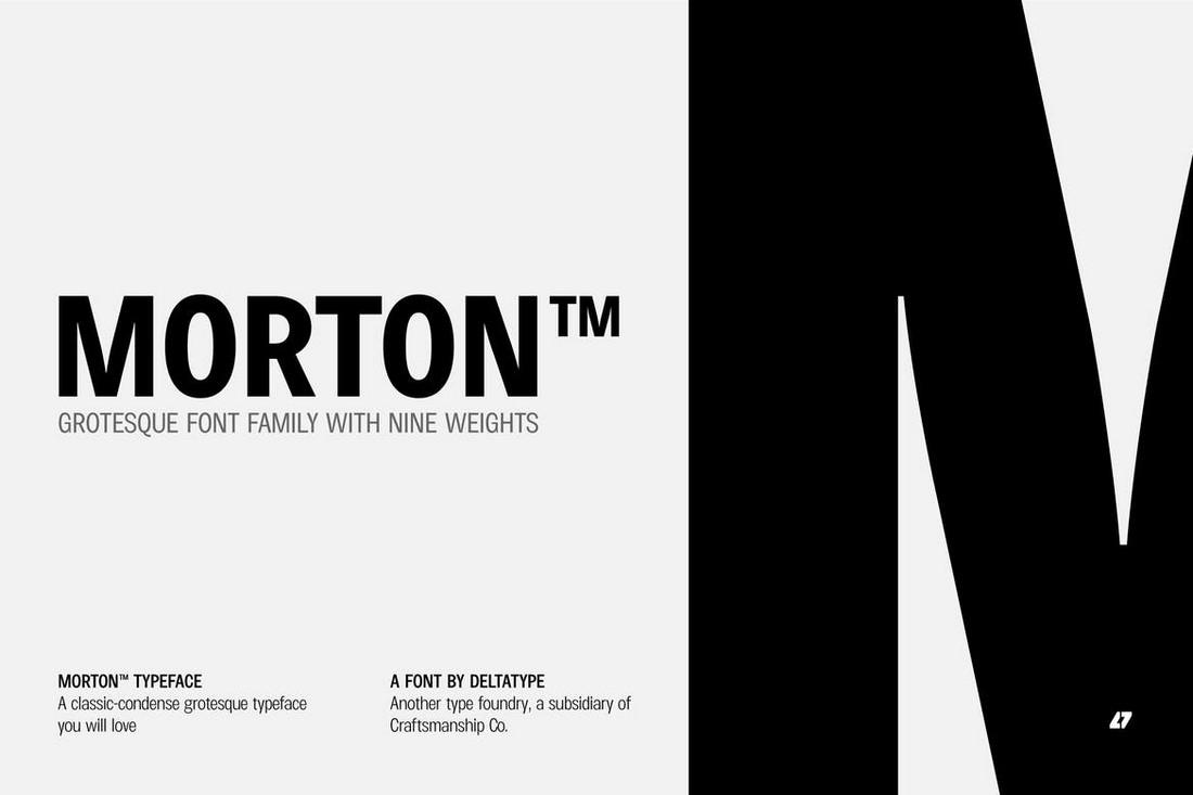 Morton - Condensed Title Font Family