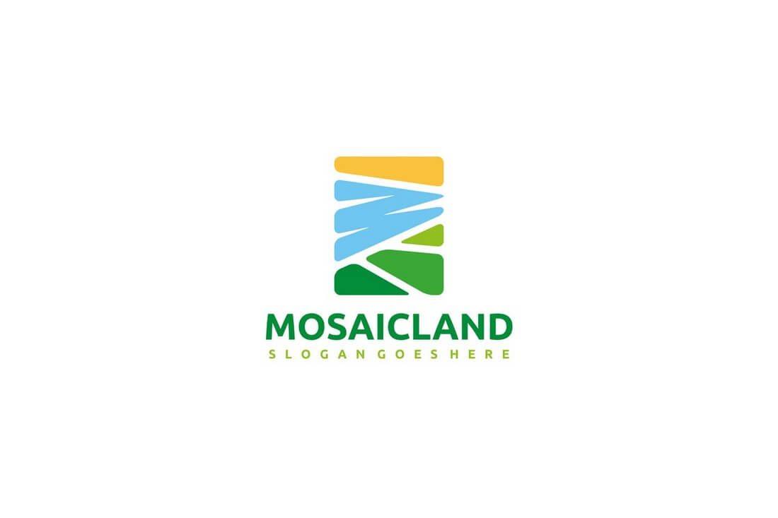 Mosaic-Landscape-Logo 50+ Best Minimal Logo Design Templates design tips