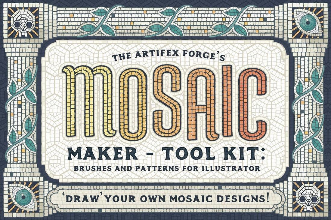 Mosaic Maker - Brushes & Patterns for Illustrator