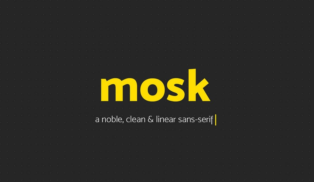 Mosk-Free-Typeface 60+ Best Free Fonts for Designers 2019 (Serif, Script & Sans Serif) design tips