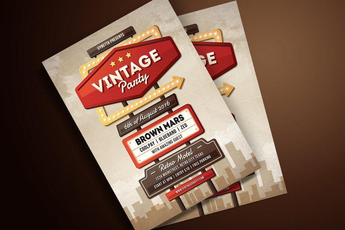 Motel-Sign-Flyer-Poster 27 Inspiring Letterpress Style Posters design tips