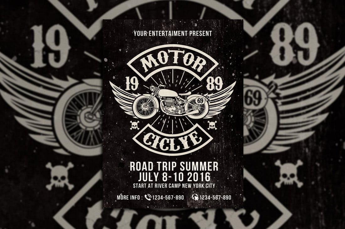 Motorcycle-Club-Event 30+ Best Event Flyer Templates design tips