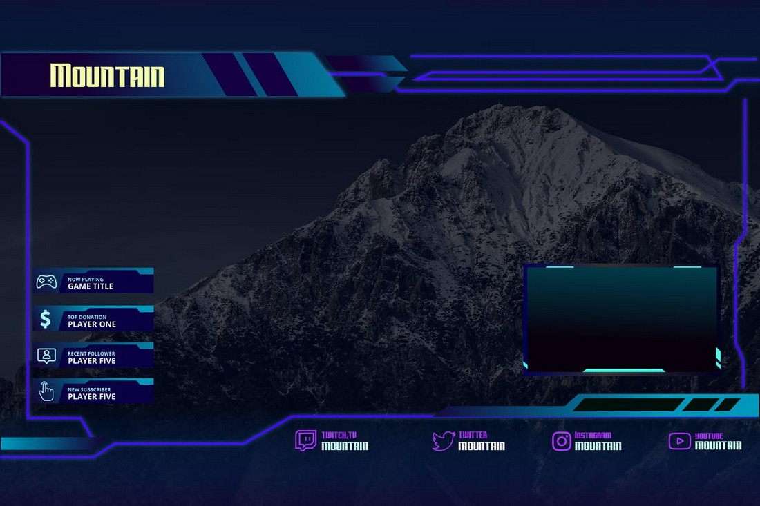 Mountain - Twitch Overlay Template