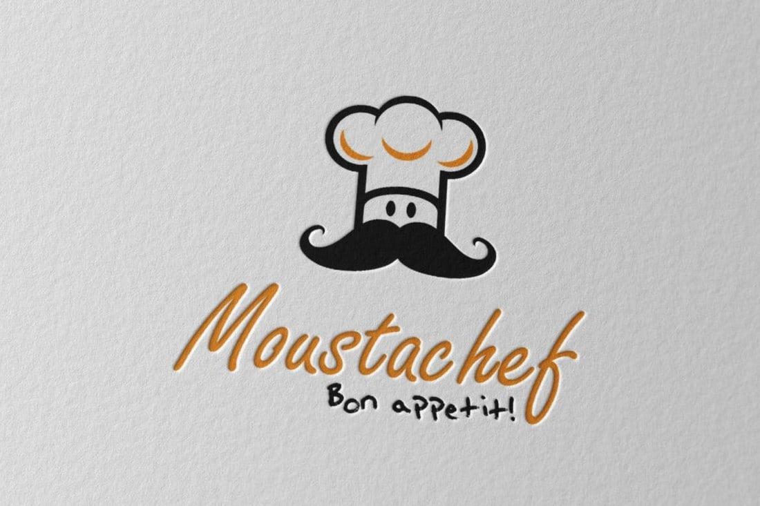 Moustachef Logo Template