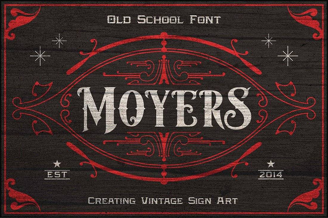 Moyers-Vintage-Tattoo-Font 20+ Best Tattoo Fonts & Lettering design tips
