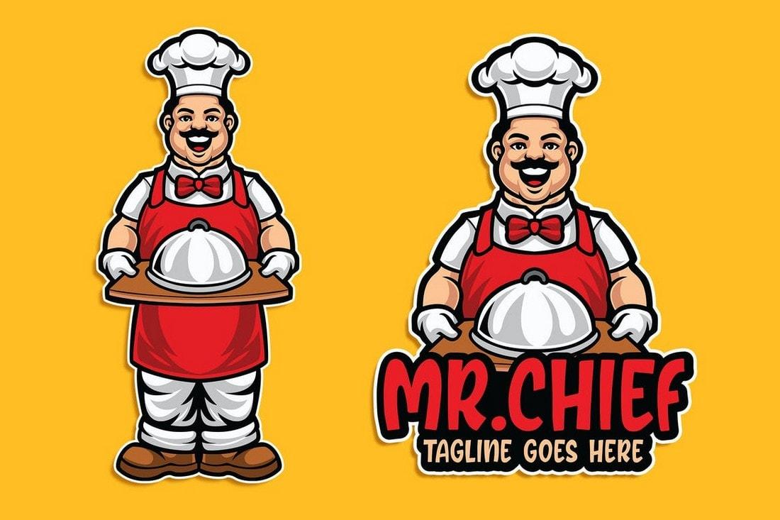 MrChief Restaurant Logo Template