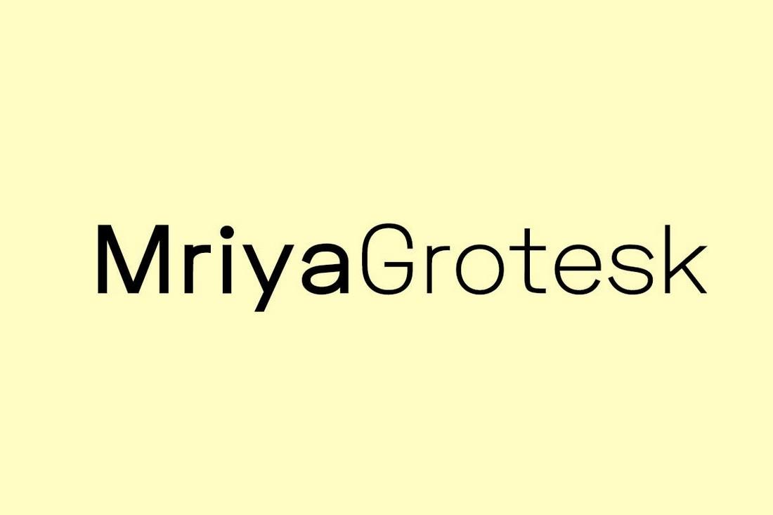Mriya Grotesk - Minimal Sans-Serif Font