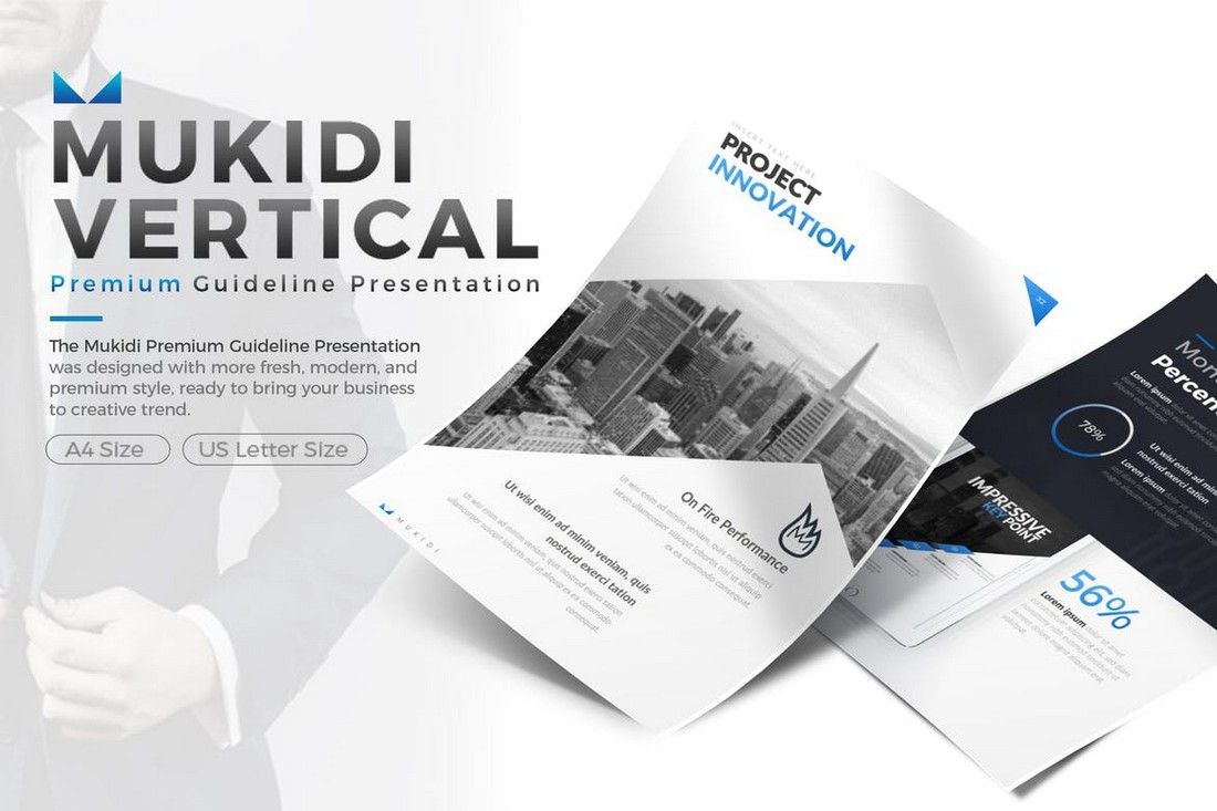 Mukidi Vertical - Business PowerPoint Template