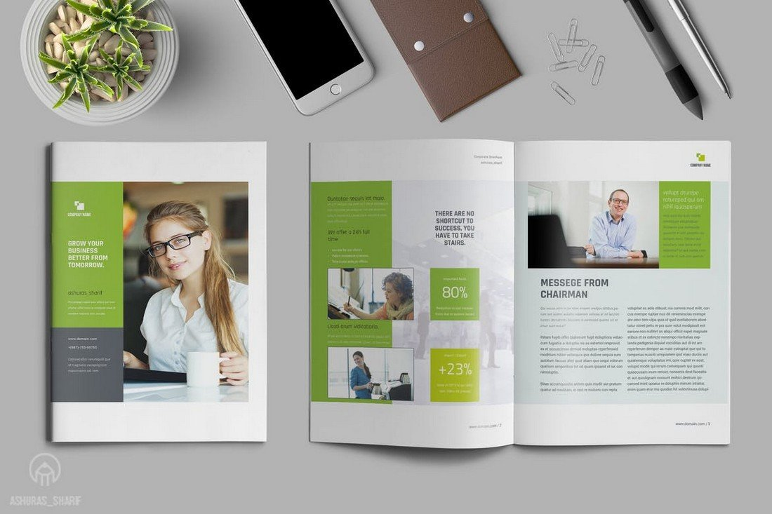 Multipurpose-Annual-Report-Template-1 30+ Annual Report Templates (Word & InDesign) 2020 design tips  Inspiration|annual|report|template