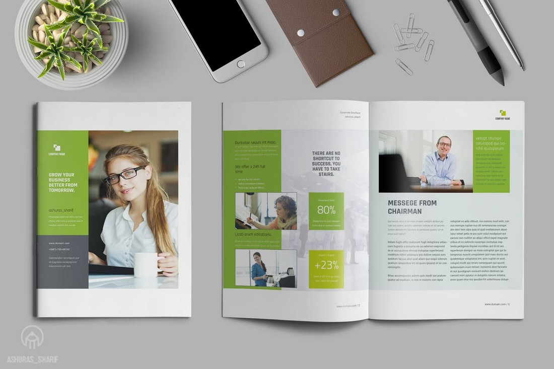 Multipurpose-Annual-Report-Template-1 50+ Annual Report Templates (Word & InDesign) 2021 design tips