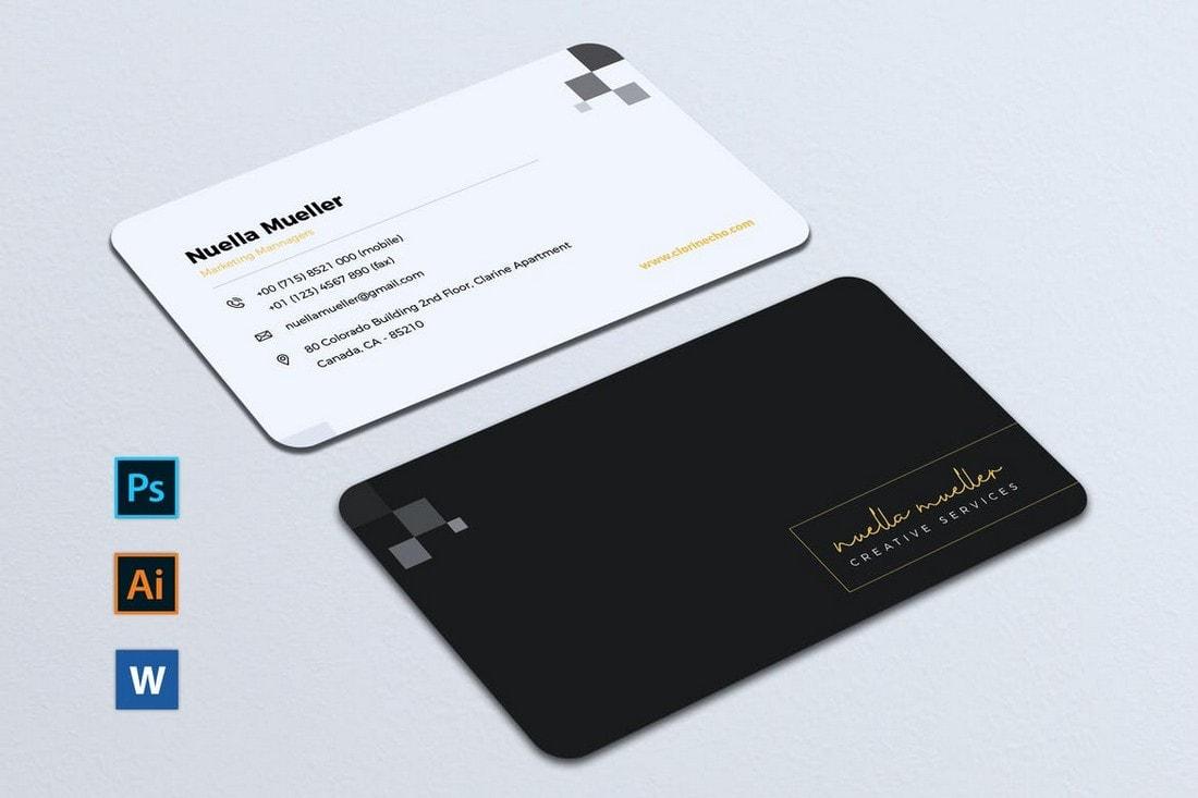 Multipurpose-Business-Card-Template-for-Google-Docs 20+ Business Card Templates for Google Docs (Free & Premium) design tips