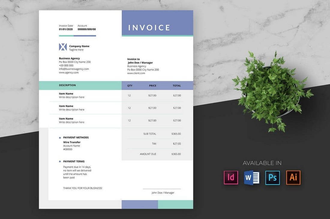 Multipurpose-Business-Illustrator-Invoice-Template 20+ Best Invoice Templates for InDesign & Illustrator (Free + Premium) design tips  Inspiration