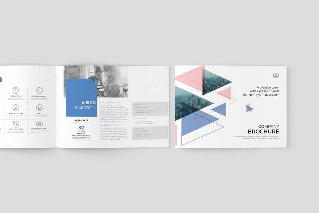 Modern Corporate Brochure Templates Design Shack - Creative brochure templates