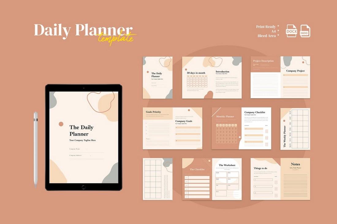 Multipurpose Daily Planner for Word