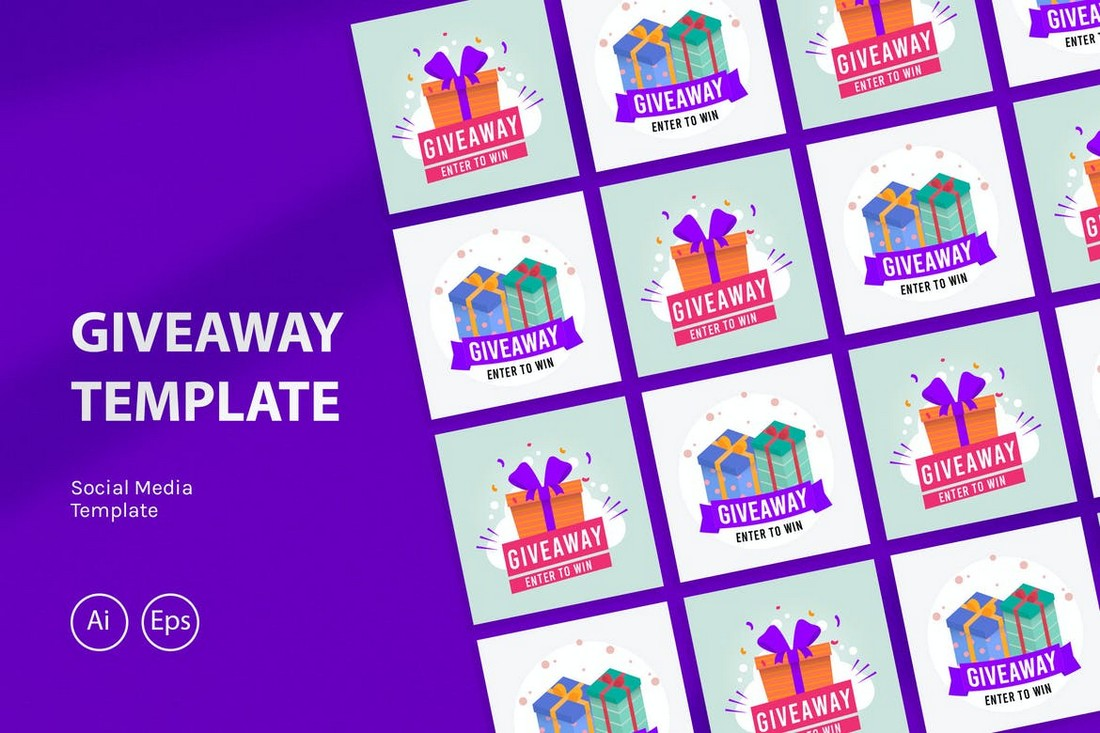 Multipurpose Instagram Giveaway Template