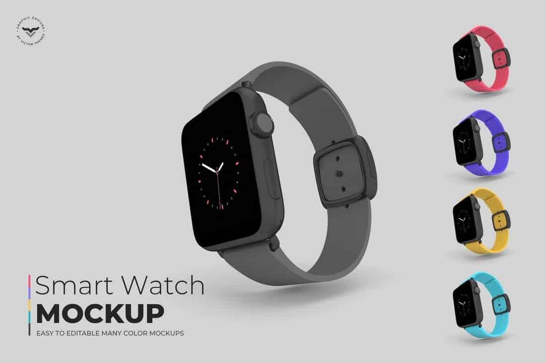 Multipurpose Smart Watch Mockups