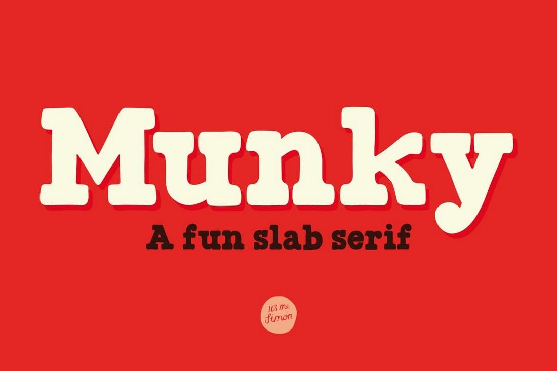 Munky - Slab-Serif Retro Font