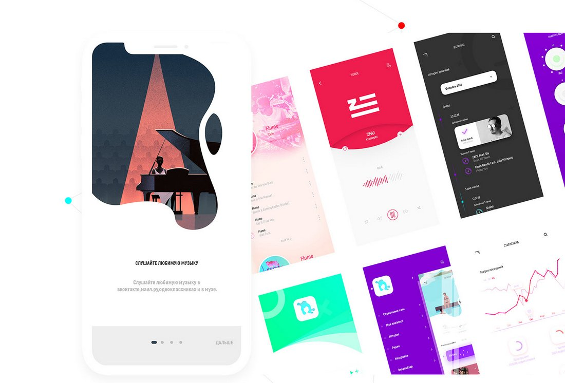 Muse - iOS UI Kit Sketch Templates