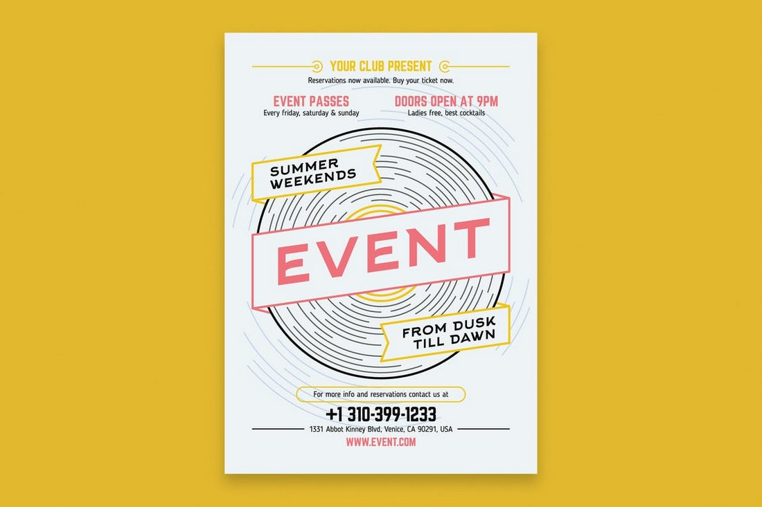 Music-Event-Poster-Template 10 Minimal Poster Design Examples (+10 Templates) design tips