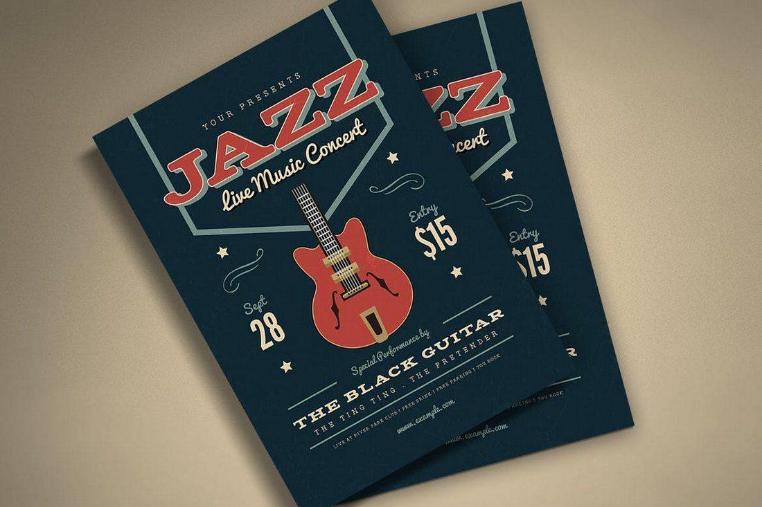 Music-Jazz-Flyer-Poster 27 Inspiring Letterpress Style Posters design tips