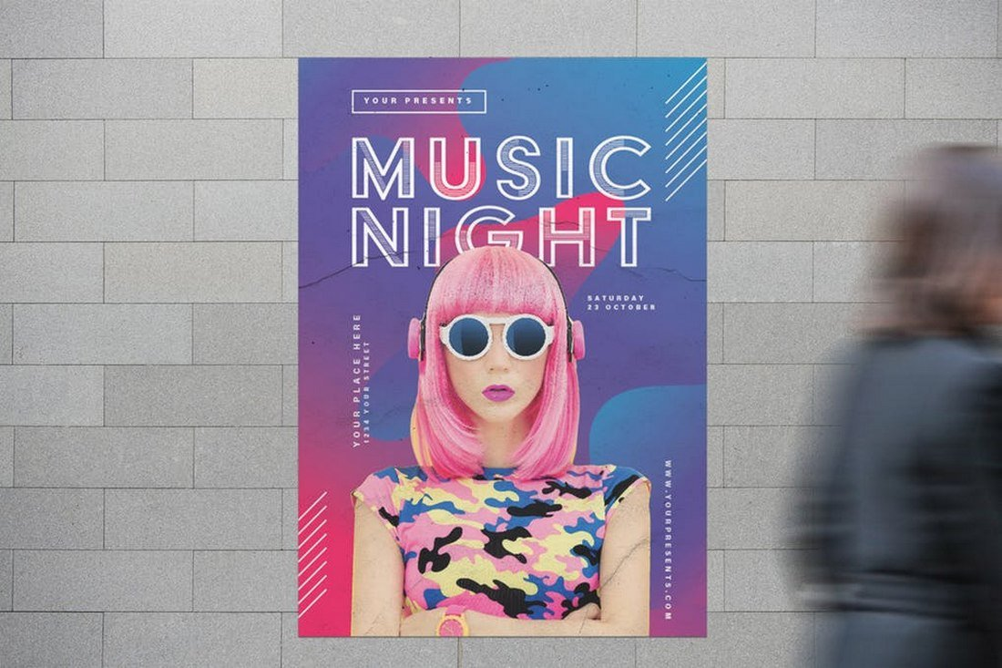 Music Night Club Flyer Template