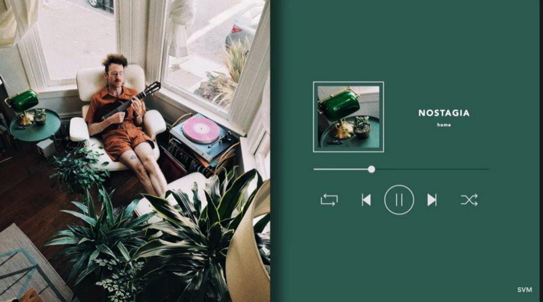 Music Player - Free Final Cut Pro Template