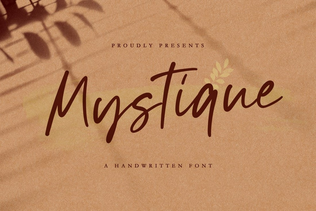 Mystique - Handwritten Luxury Signature Font