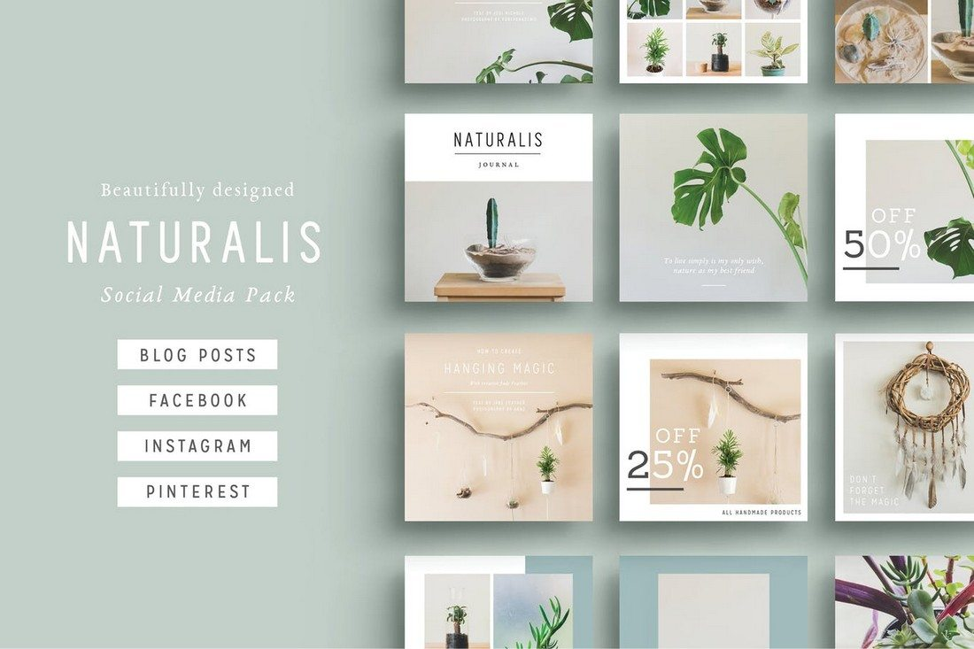 NATURALIS-Social-Media-Pack 20+ Best Facebook Cover & Post Mockups design tips