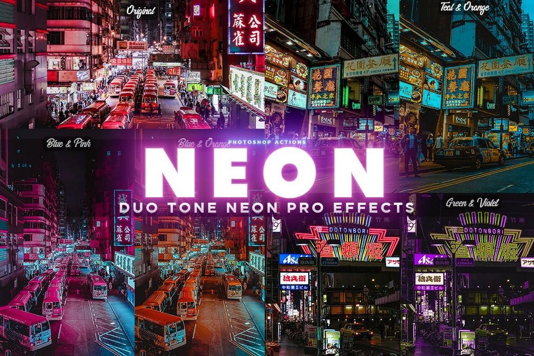 NEON PRO - Neon Lights Photoshop Actions